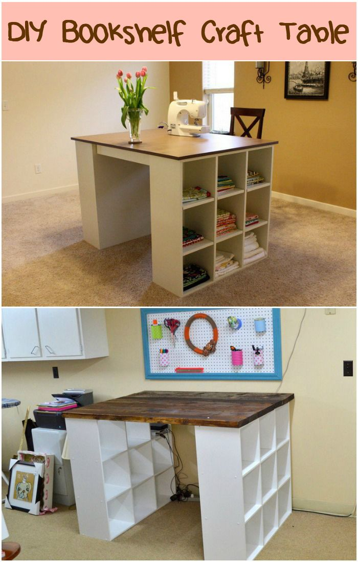 Build yourself a craft table with just two small bookshelves a build yourself a craft table with just two small bookshelves a board and a little solutioingenieria Images