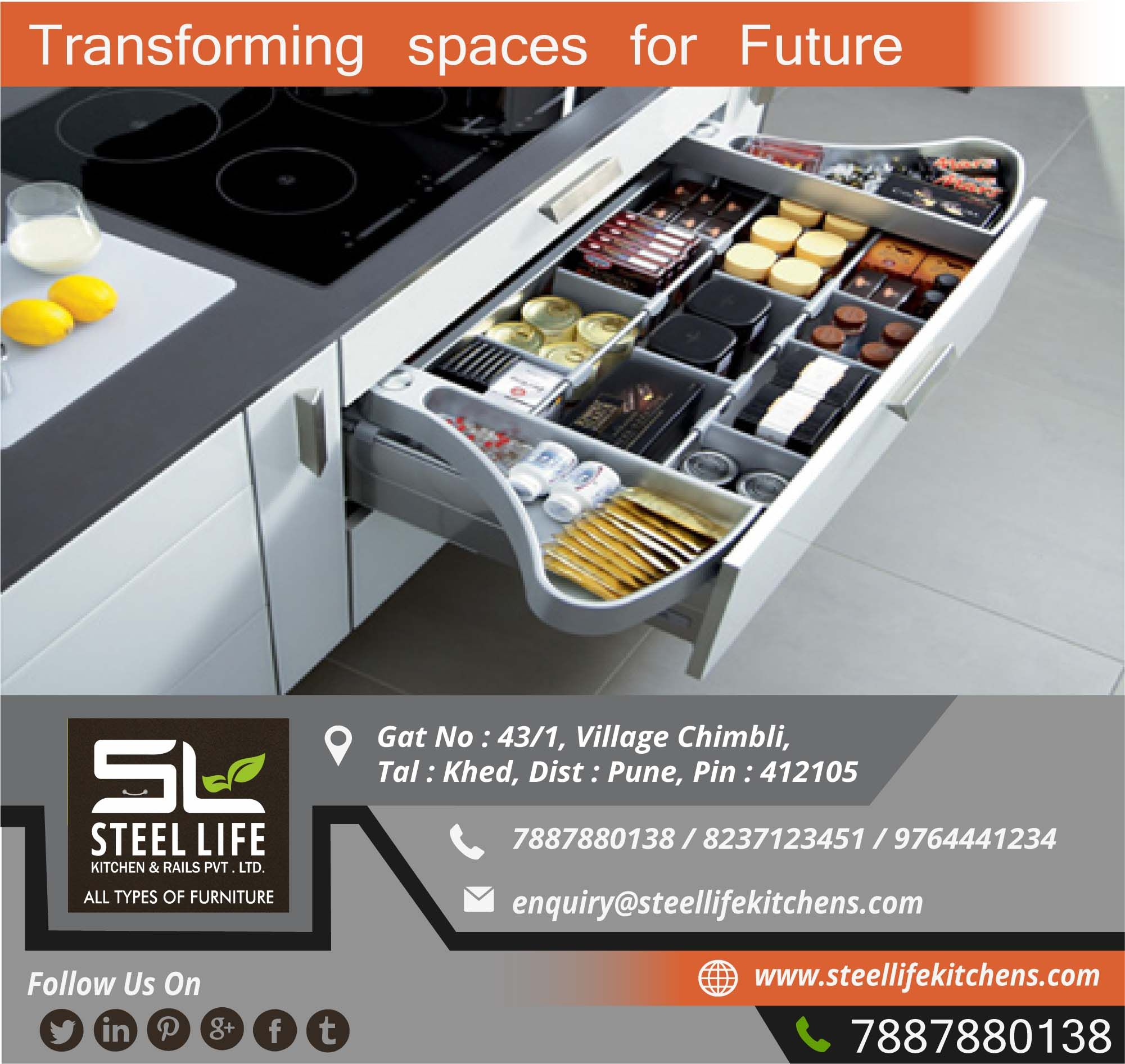 Transforming Spaces For Future Steel Life Kitchen Rails Team