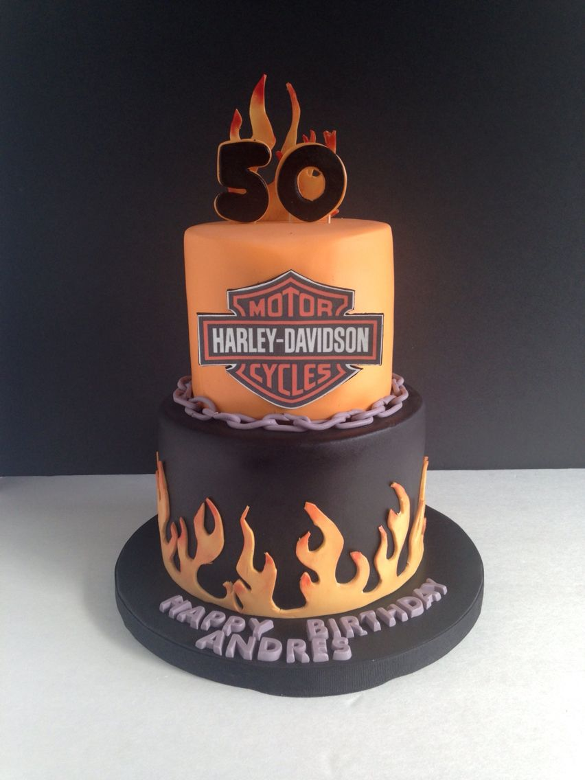 Harley Davidson Cake  My Cakes  Pinterest  Harley davidson cake ...
