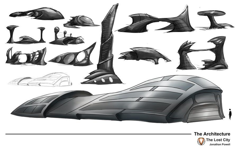 Futuristic Architecture Designs by Building Sketch