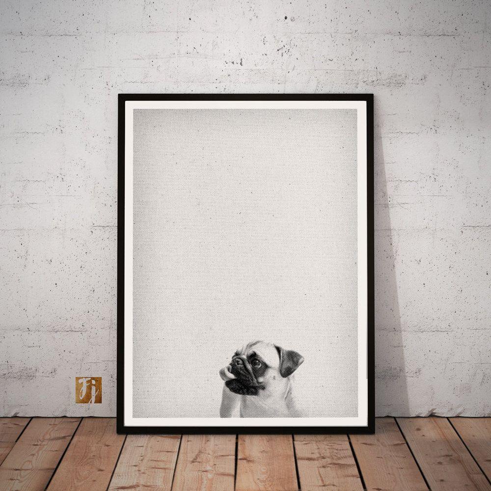 Baby Mops Mops Mops Wand Kunst Druck Moderne Minimalistische