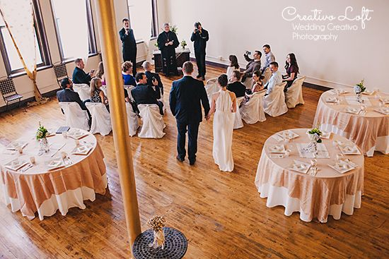 Small Wedding Ceremony Followed By Breakfast At Creativo Loft Chicago Weddings And Elopements