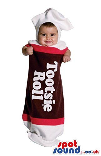 2 Big Tootsie Roll Wrapped Candy Baby Size Costume Halloween