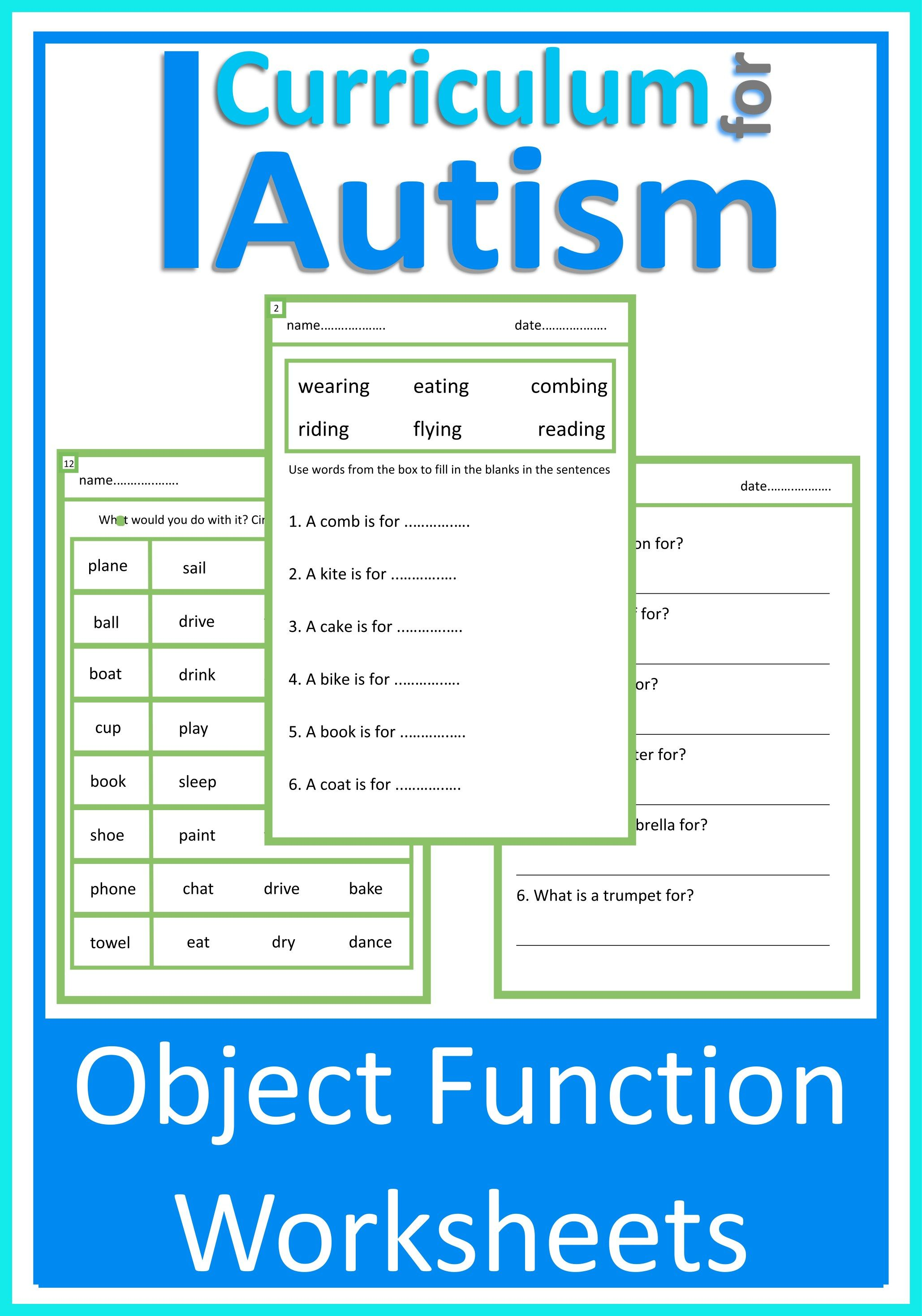 Object Function Worksheets