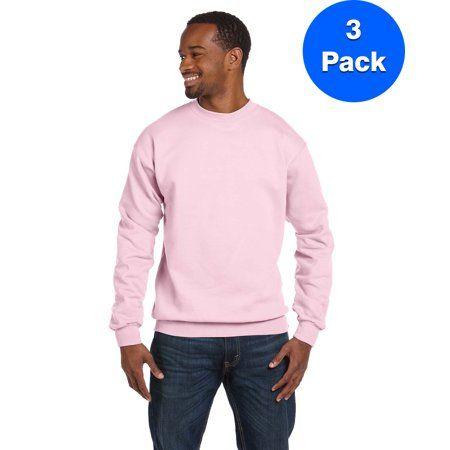 Hanes Mens ComfortBlend Crew Sweatshirt 3 Pack