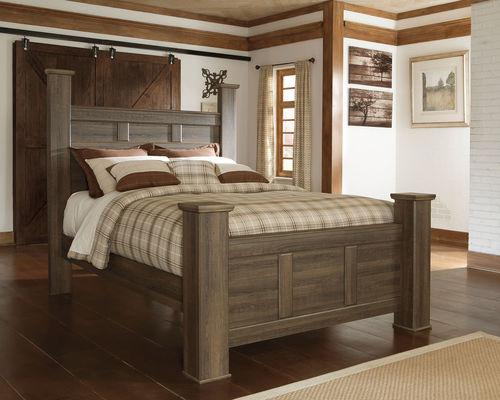 Juararo Queen Poster Bed King Size Bed Frame Ashley Furniture Bedroom Sets