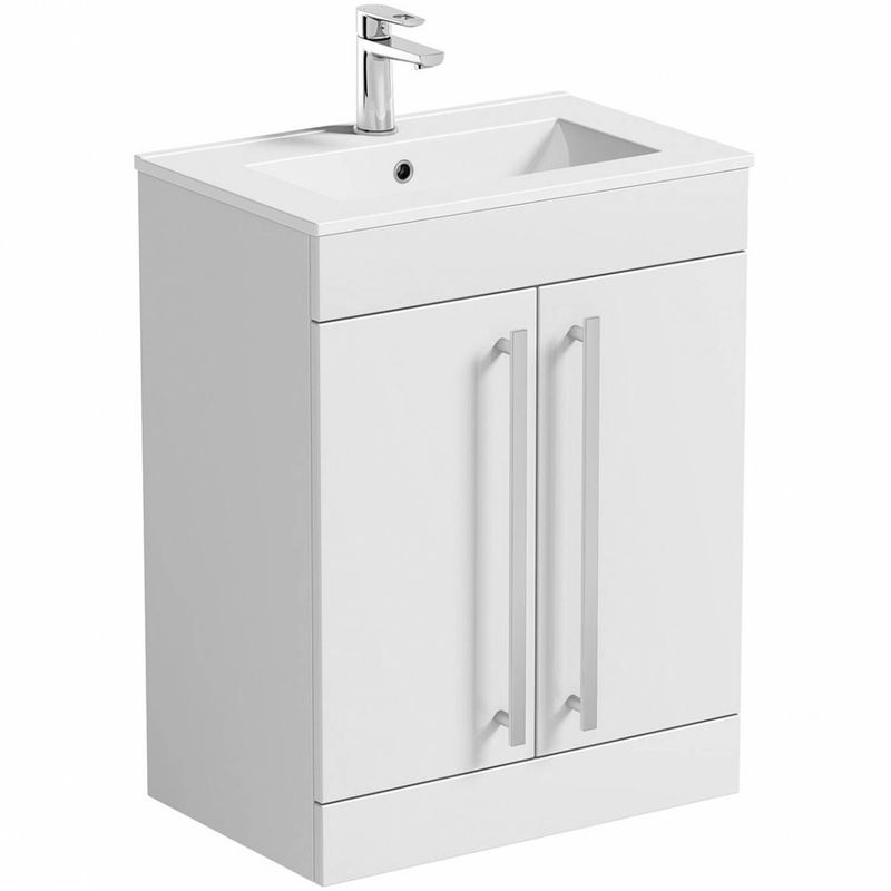 Odessa White Vanity Drawer Unit And Basin 600mm Offer Pack