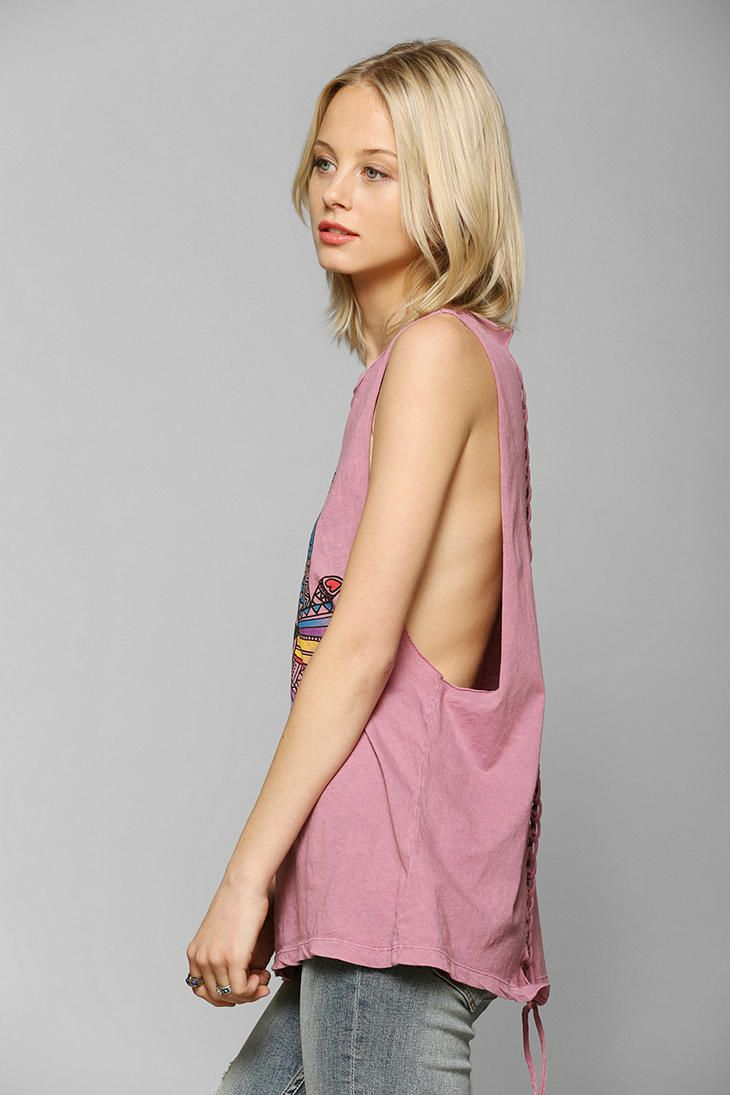 Truly Madly Deeply Henna Rose Muscle Tee - Urban Outfitters