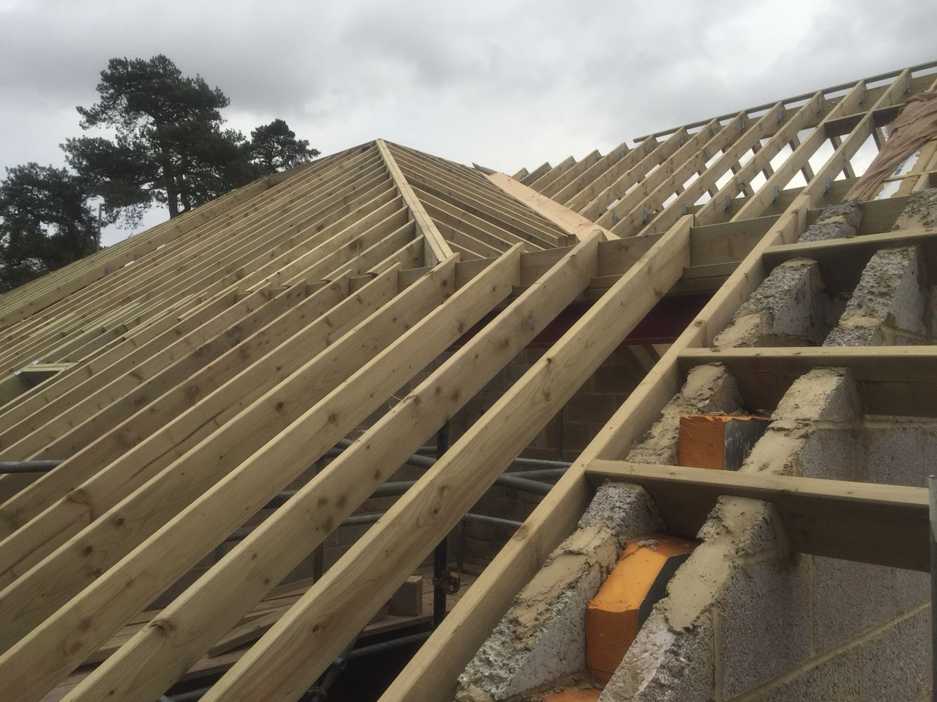 hips, valleys and gable | Roof design, Design, Wood