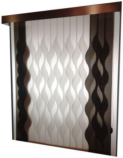Estores paneles japoneses cortinas ideas para el hogar - Cortinas verticales madrid ...