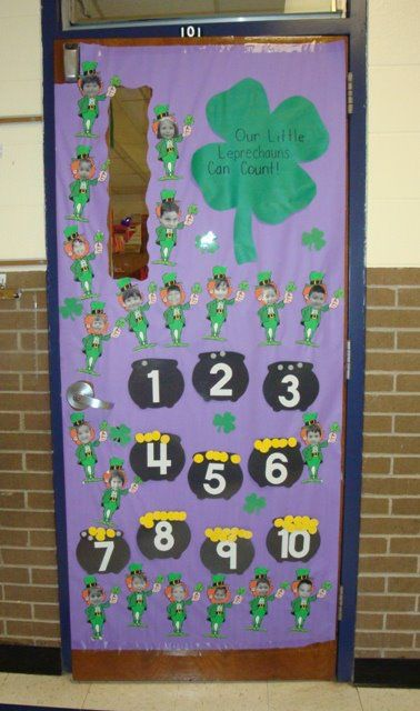 March Pre K St Patricks Day Door Decoration Classroom