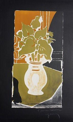 Feuilles couleur lumiere by Georges Braque/1953-1954
