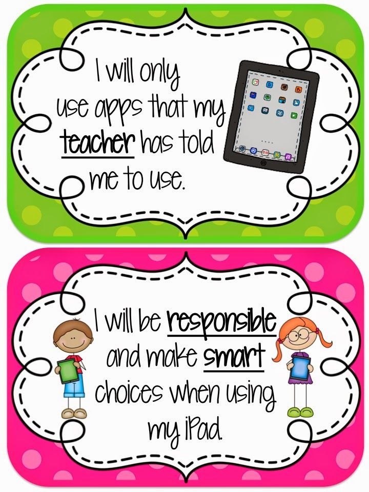 2nd Grade Happenings In The Single Digits Ipad Rules Classroom Apps Classroom Rules