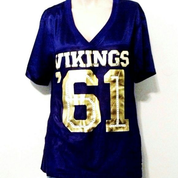 ac76fe2d4 Victoria s Secret NFL Pink Vikings Football Jersey