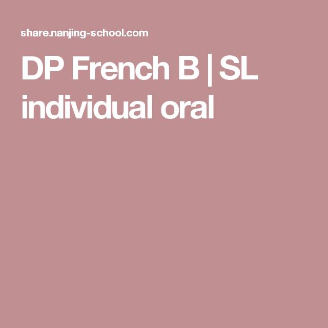 DP French B   SL individual oral   Teaching: IB MYP   French