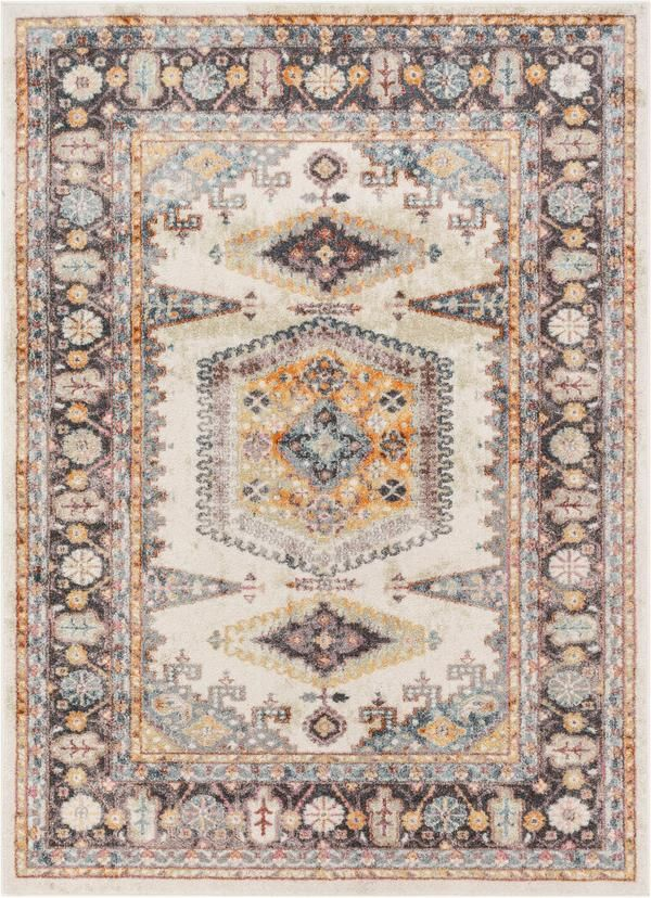 Roswell Bohemian Eclectic Aztec Beige Rug In 2020 Rugs
