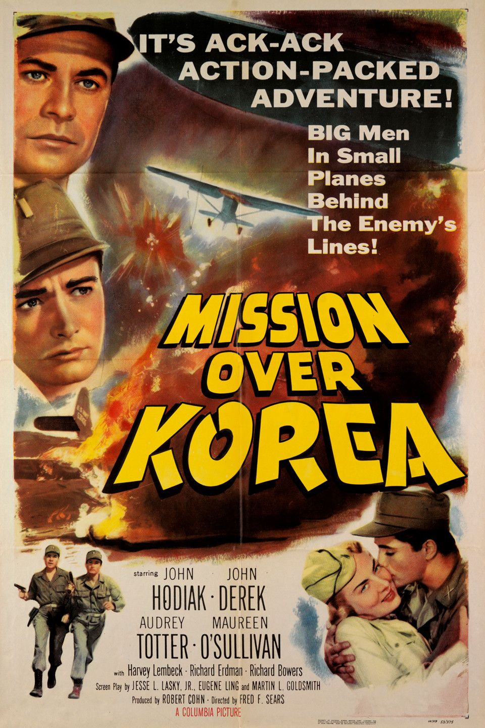 Mission Over Korea 1953 Movie Posters Film Posters Vintage