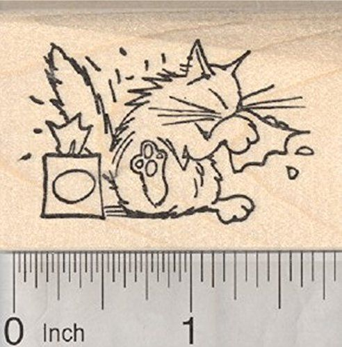 Get Well Cat Rubber Stamp with Tissues * Be sure to check out this awesome product.