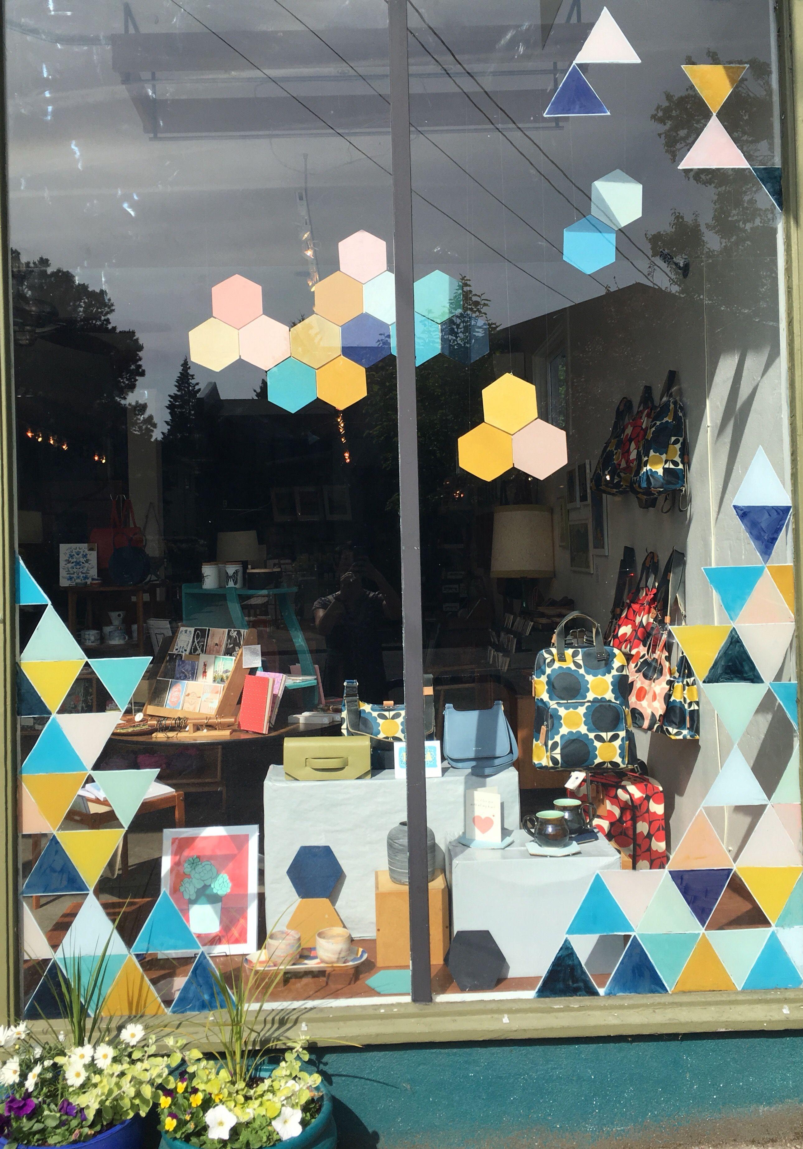 Tilde Summer 2018 Window Display Geometric Shapes Summer Window Display Summer Window Window Display