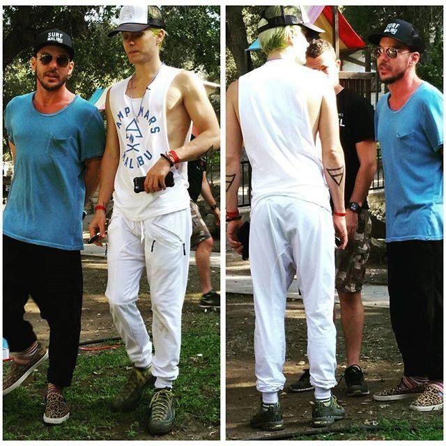 #ShannonLeto Jared Leto #CampMars 22 August 2015 via Vanessa Menendez Instagram