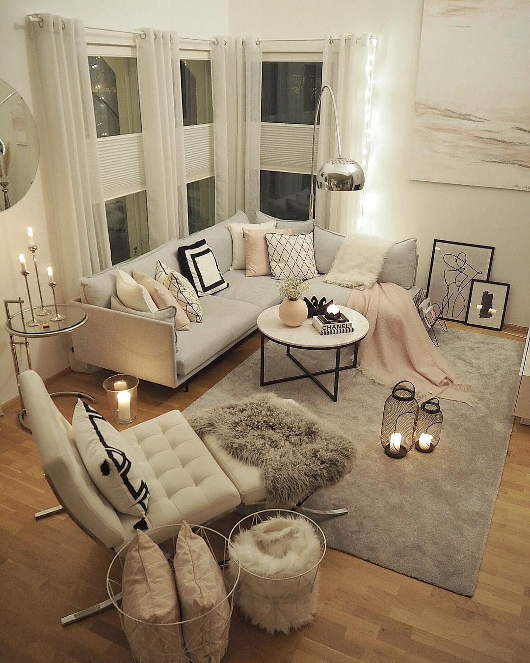 Home Decor Lifestyle Kids On Instagram Wish You All Amazing Evening Condo Living Room Scandi Living Room Girly Living Room