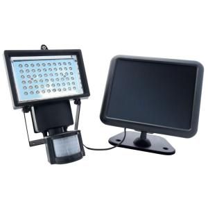 nature power black outdoor solar powered motion activated 60 led