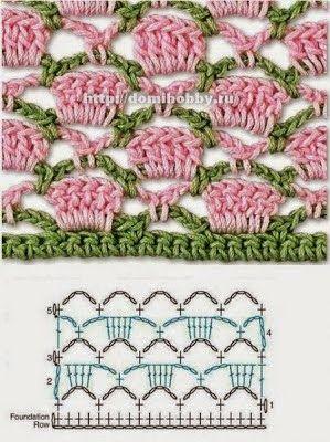 Las mejores puntadas crochet para tu colección * 25 motivos *
