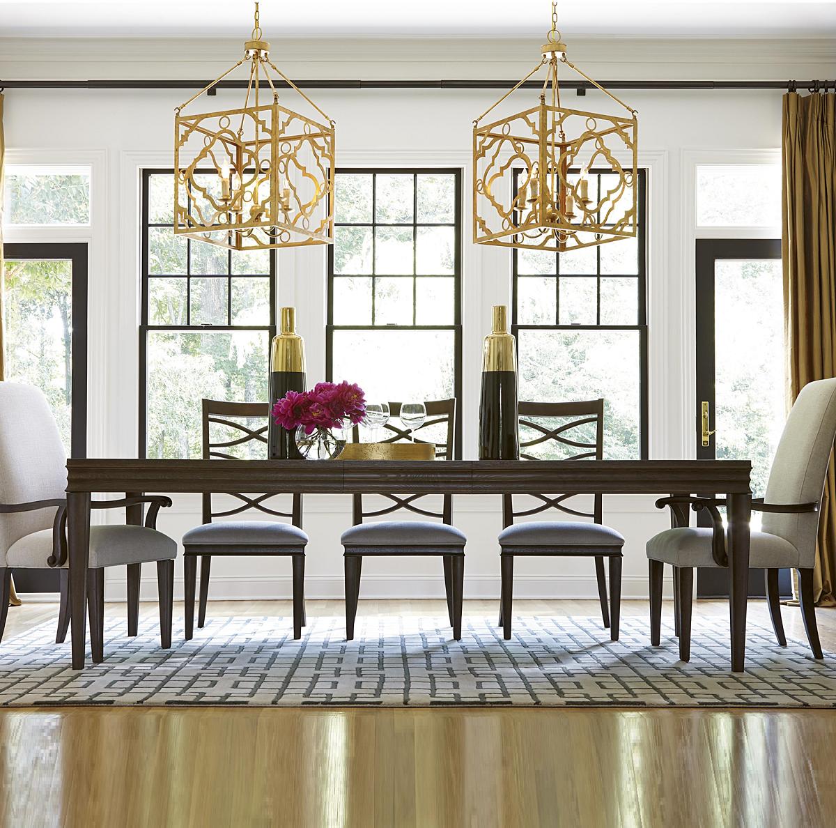 "California Rustic Oak Extending Dining Table 114""  Rustic White Unique Oak Dining Room Design Decoration"