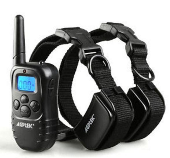 Agptek Recharge Waterproof Lcd 100lv Shock Vibra Remote 2 Dog