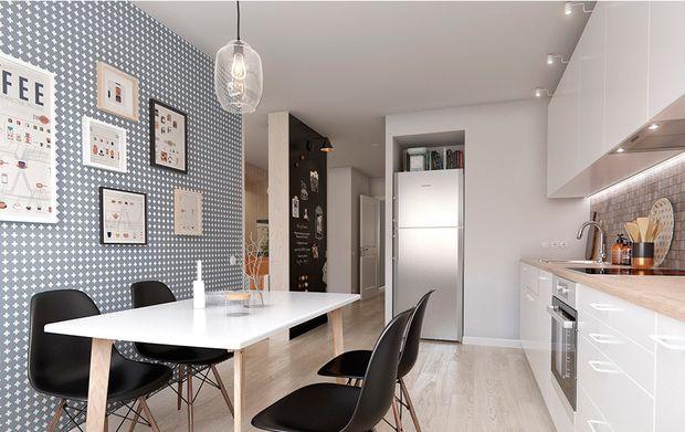 Cocina con comedor de un piso de 60 metros cuadrados for Comedor 20 metros cuadrados