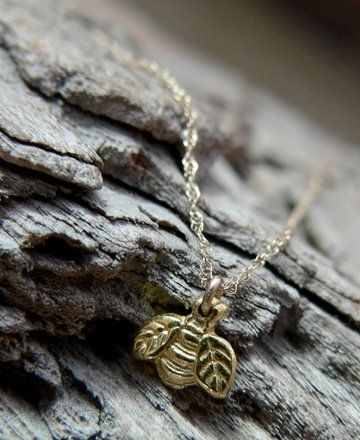 Custom Made 22k Gold Dainty 'Lil Bumble Bee Necklace