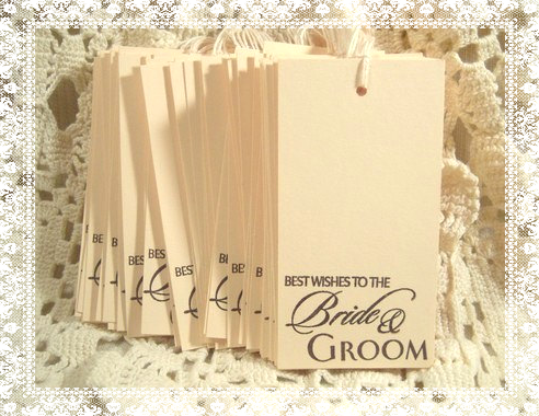 Best Wishes To The Bride And Groom Wedding Wish Tree Tags