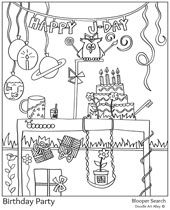 Blooper Search Pattern Coloring Pages Bloopers Doodle Art
