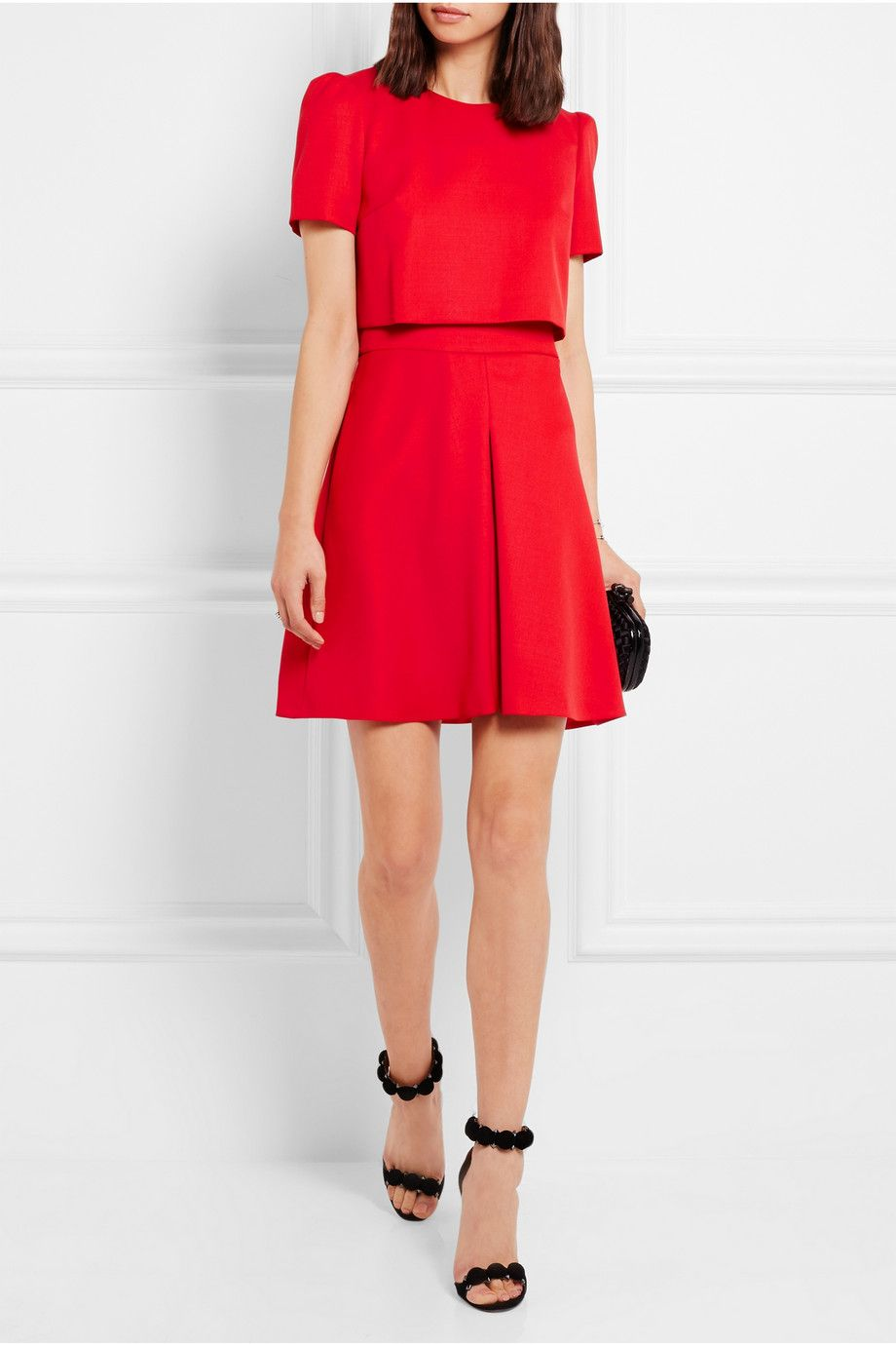 Sale Purchase Crêpe minidress Alexander McQueen New Styles Online Free Shipping Footaction Free Shipping Cost Best Place Cheap Price lg1sEfn