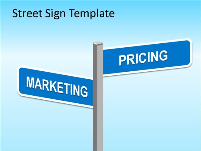 street sign powerpoint template powerpoint prese business
