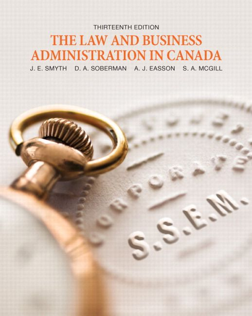 Solution manual for the law and business administration in canada solution manual for the law and business administration in canada 13th edition by smyth isbn 0132916304 fandeluxe Choice Image