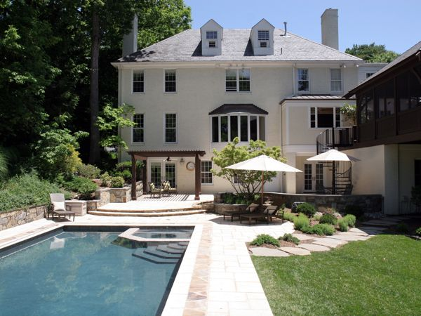 Swimming Pool and Spa with Patio, Pergola, Screened Porch and ...