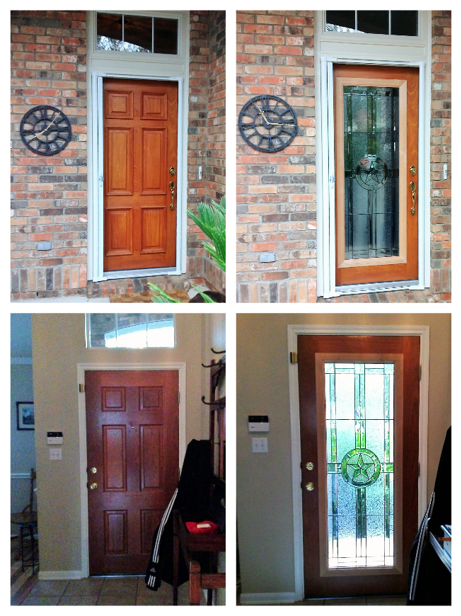 Our Door Canvas For This Installation Was A 6 Panel Wood