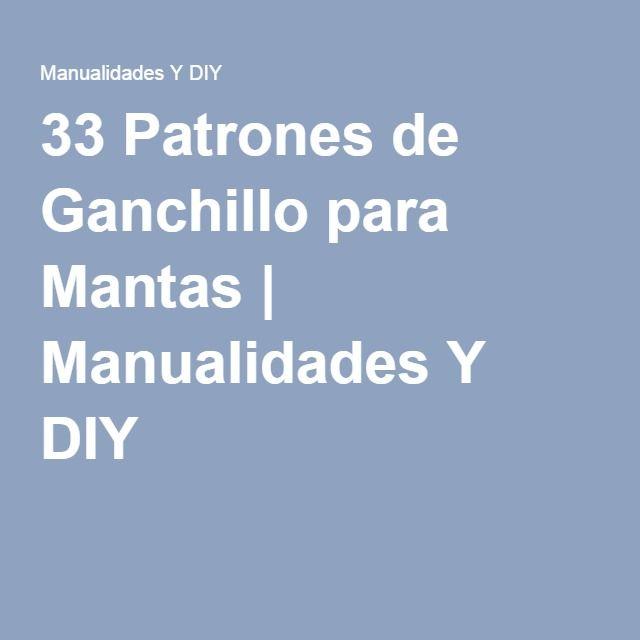 33 Patrones de Ganchillo para Mantas | Manualidades Y DIY
