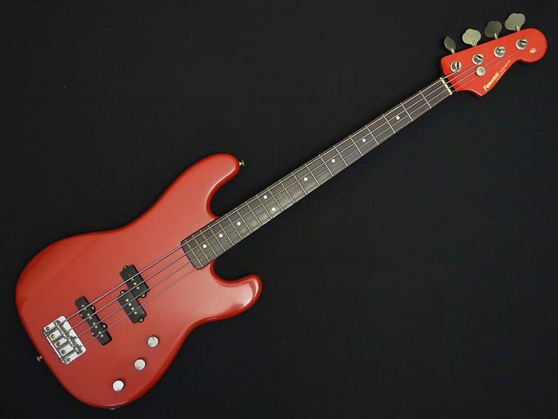 1987 Fernandes Japan Jazz Bass Special Pjr 45 Precision Fiesta Red Rock On Shop Reverb Bass Guitar Fender Bass Guitar Bass