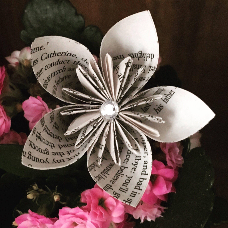 Origami Kusudama Flower Book Page Flower Paper Flower Table