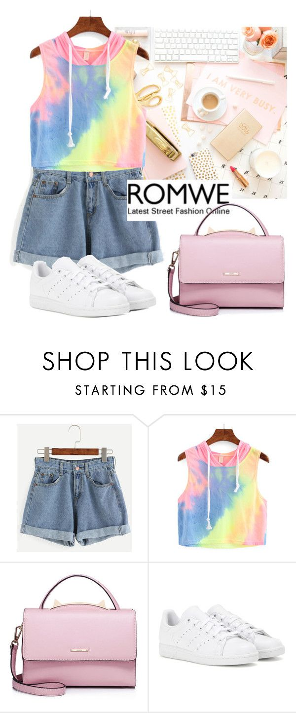 """""""Romwe contest"""" by sweet-fashionista ❤ liked on Polyvore featuring WithChic and adidas"""