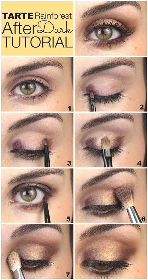 Easy eye makeup tutorial step by step everyday colorful pink peach hooded eye makup for glasses for