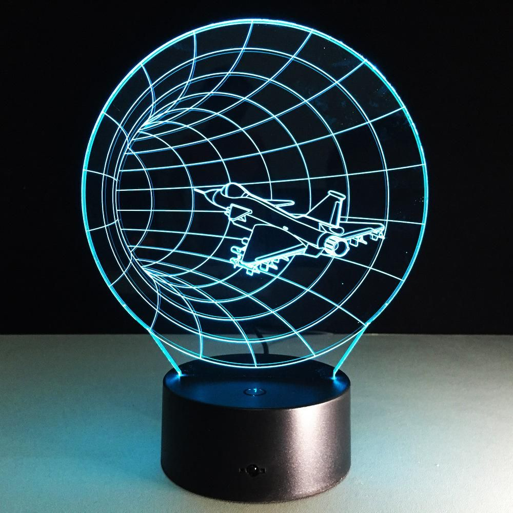 Space Shuttle 3d Illusion Led Lamp Mood Lamps 3d Night Light 3d Led Lamp