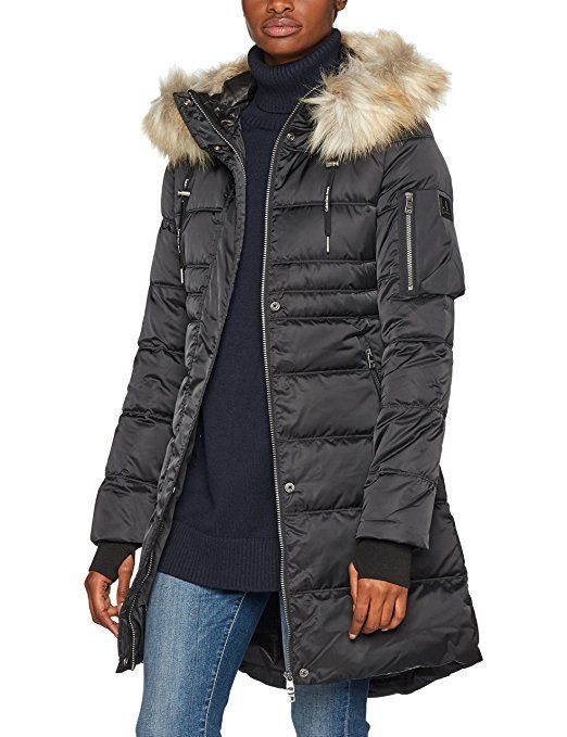 Calvin Klein Jeans Damen Mantel Opra Mw Down Basic H Schwarz