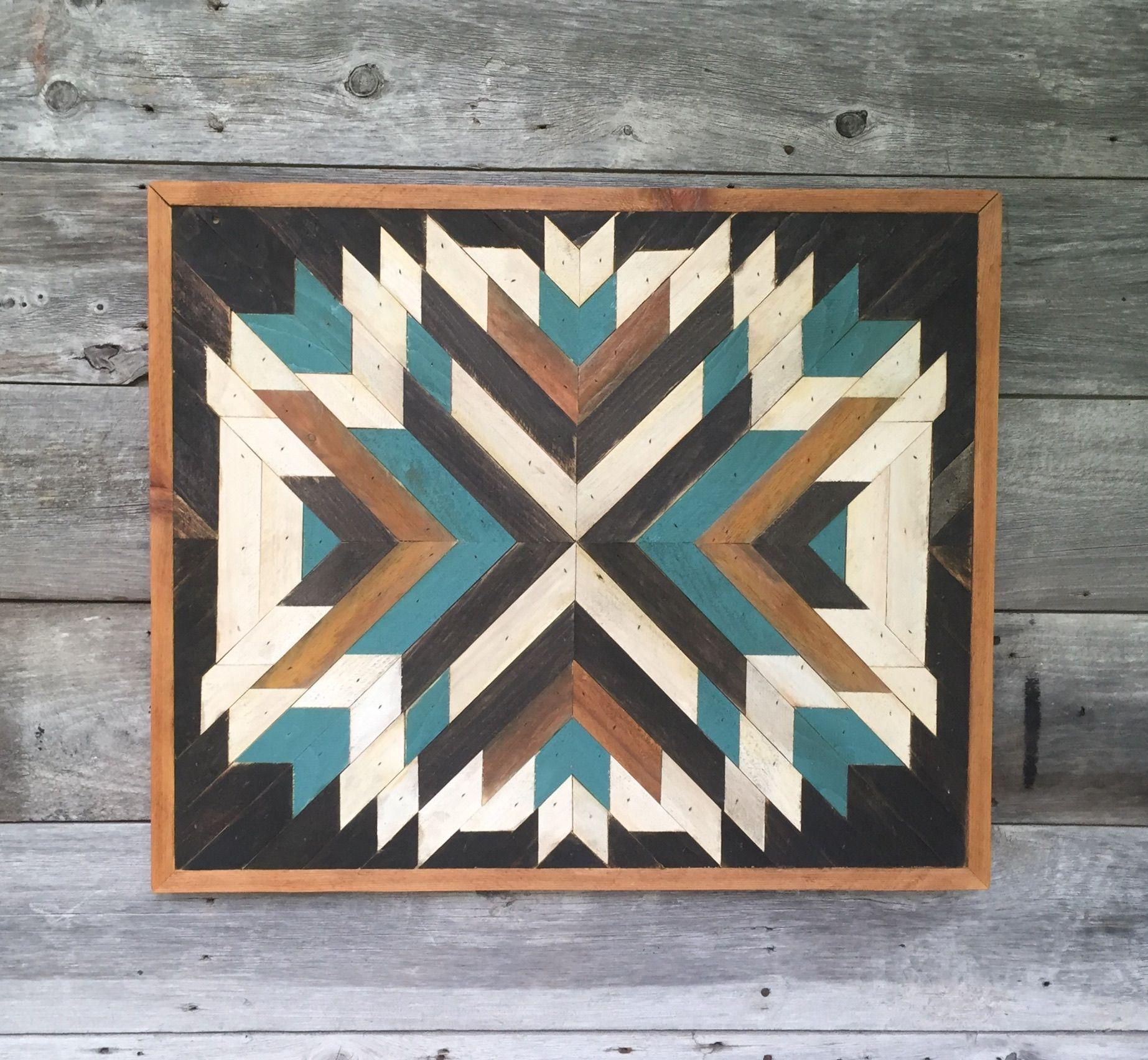 Wood Wall Art Decor, Reclaimed Wood Wall Art, Wooden Wall