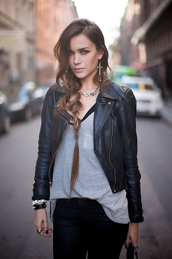 Just to be a bad girl! #leather jacket | My FASHION Style ...