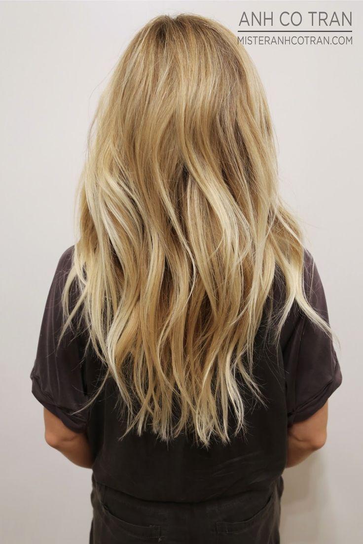Stufenschnitt für lange blonde haare