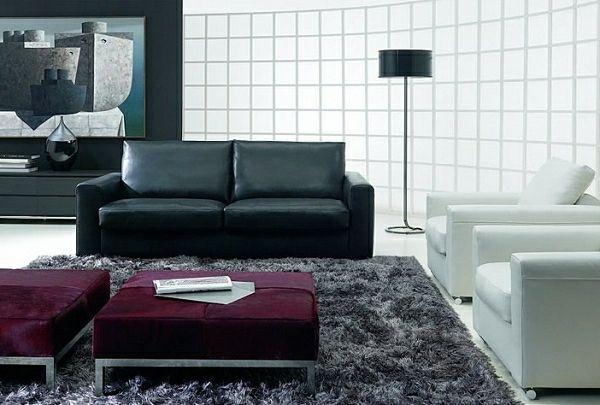 Wohnzimmer Design und Moderne Farben - Schone Design Schema Black