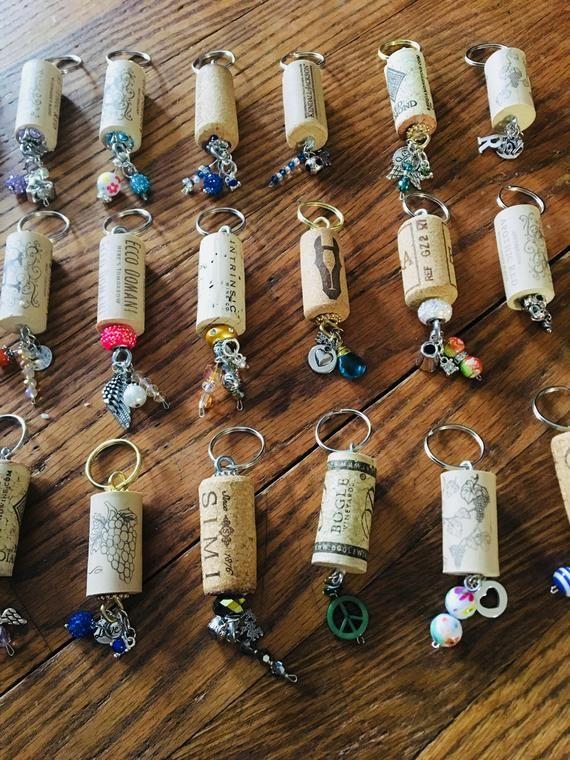 Wine Cork Keychains Wine Cork Decor Wine Gifts New Home Etsy Wine Cork Diy Crafts Wine Corks Decor Wine Cork Diy
